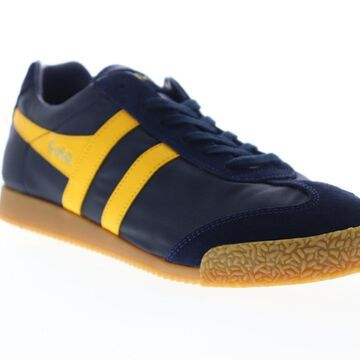 Gola Harrier Nylon Mens Blue Nylon Lace Up Low Top Sneakers Shoes
