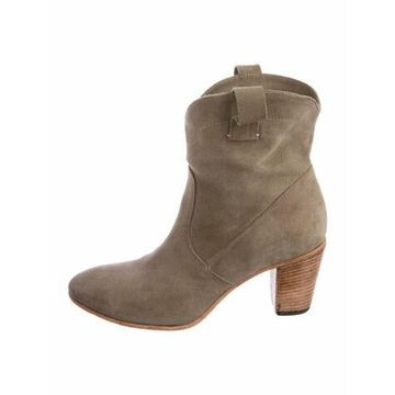 Suede Western Boots Grey