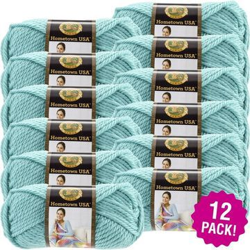 Lion Brand Hometown Usa Yarn 12/Pk-Miami Seafoam - Green