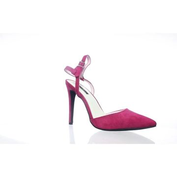 Michael Antonio Womens Sue Pink Ankle Strap Heels Size 10