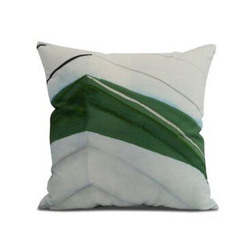Simply Daisy, 26 x 26 inch, Boat Bow Left, Geometric Print Pillow, Green