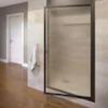 Basco Sopora 20.75-in to 22.5-in W Framed Pivot Oil-Rubbed Bronze Shower Door