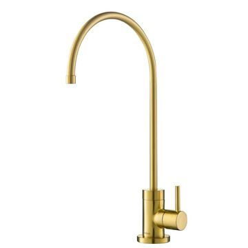 Kraus Brushed Brass Cold Water Dispenser with Hi-Arc Spout Stainless Steel | FF-100BB