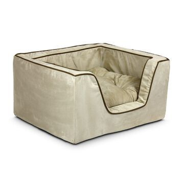 Snoozer Luxury Square Bed in Buckskin with Java Cording