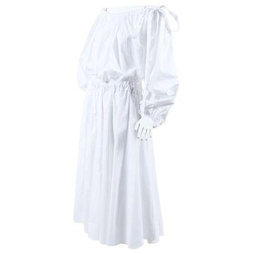 Rochas White Cotton Dresses