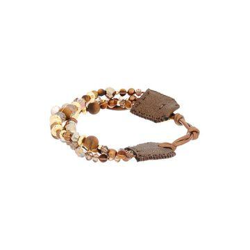Chan Luu 18K Over Silver Gemstone, 4.5Mm Pearl, & Crystal Leather Bracelet