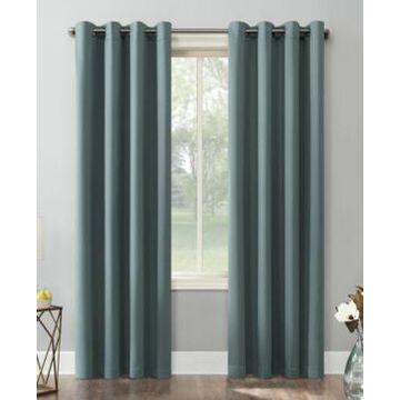 Sun Zero Saxon Blackout Grommet Curtain Panel, 54