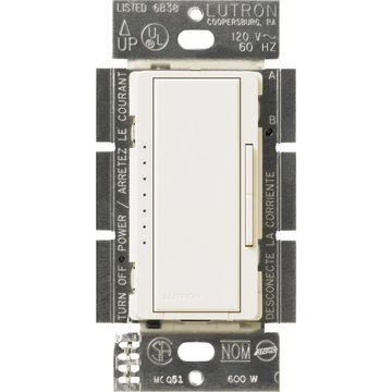 Lutron Maestro 600-Watt Multi-Location Biscuit Dimmer