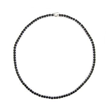 Glitzy Rocks Sterling Silver Black Spinel Necklace (26 1/2ct TGW) (P5892-BSP-17)