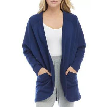 Hue Women's Solid Baby Terry Pajama Bed Jacket - -