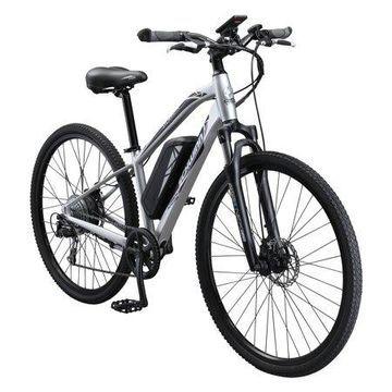 Schwinn Sycamore ELECTRIC 350 watt hub-drive, mountain/hybrid, electric bicycle, 8 speeds, Mens size large, silver