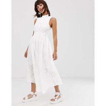 ASOS WHITE broderie midi dress