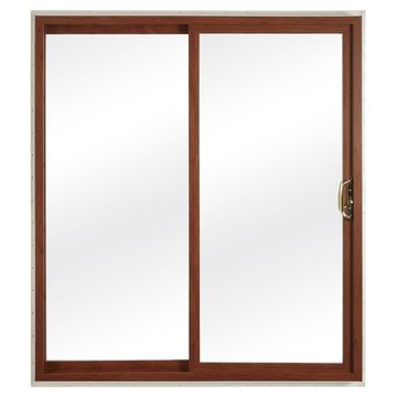 ReliaBilt Reliabilt Clear Glass White Vinyl Universal Reversible Double Door Sliding Patio Door with Screen (Common: 72-in x 80-in; Actual: 70.75-in x 79.5-in)