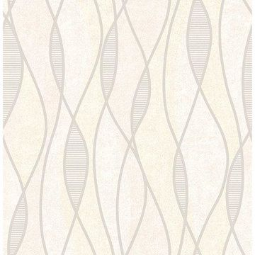 Brewster Geometric Blush Tangent Wallpaper