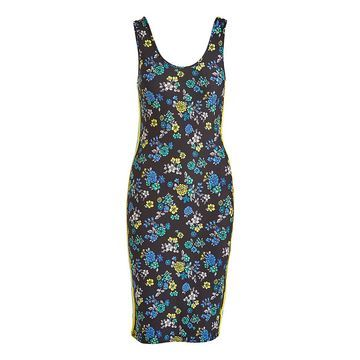 Derek Heart Women's Casual Dresses BLACK - Black & Blue Floral Sleeveless Bodycon Dress - Juniors