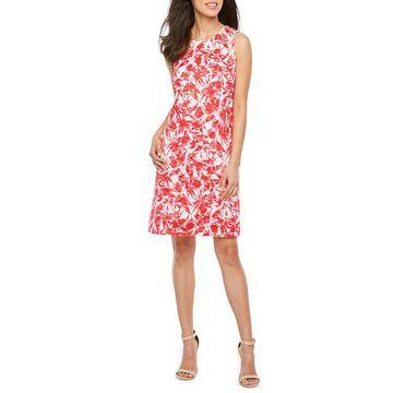 Ronni Nicole Sleeveless Floral Lace Shift Dress