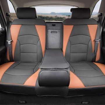 FH Group Ultra Leatherette Rear Bench Seat Cushions, Brown