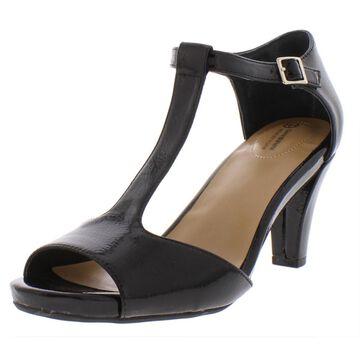 Giani Bernini Womens Claraa Patent T-Strap Dress Sandals