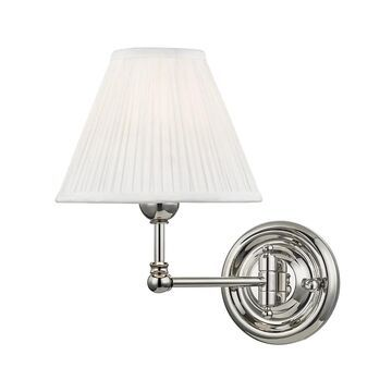 Hudson Valley Classic No.1 by Mark D. Sikes Wall Lamp in Polished Nickel