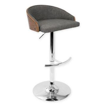 LumiSource Shiraz Bar Stool in Grey