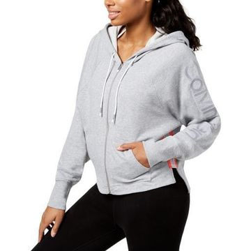 Calvin Klein Performance Womens Relaxed Cropped Hoodie