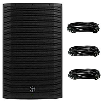 Mackie Thump15BST 1300W 15Advanced Power Loudspeaker with 3 Deco Gear XLR Cable Bundle