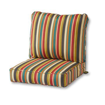 Greendale Home Fashions 2-Piece Sunset Deep Seat Patio Chair Cushion Polyester | OC7820-SUNSET