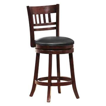 Homelegance Swivel Counter Height Chair/Stool, Dark Cherry