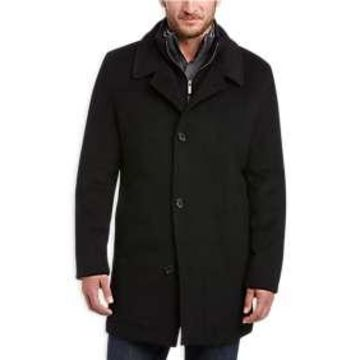 Pronto Uomo Black Classic Fit Car Coat