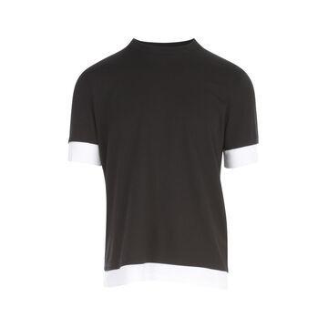 Neil Barrett Travel T-shirt With Double Hem & Sleeve Cuff