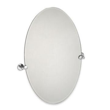 Gatco Latitude II 28.5-Inch x 32-Inch Oval Mirror in Chrome