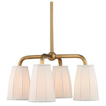 Hudson Valley Malden 4-LT Chandelier 6064-AGB - Aged Brass