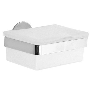 Smedbo Time Tissue Box Polished Chrome, W/Frosted Glass