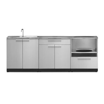 NewAge Products Modular Outdoor Kitchen Outdoor Kitchen Modular Cabinet Stainless Steel