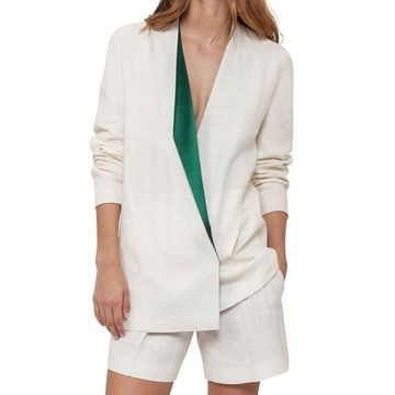 Akris Women's Lapel-Collar Linen Jacket