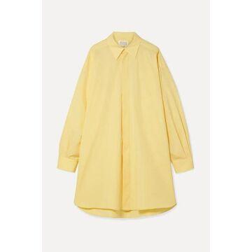 Maison Margiela - Oversized Cotton-poplin Shirt - Pastel yellow