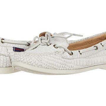 Sebago Nina Waxy (White) Women's Shoes