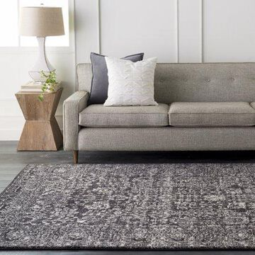"""Art of Knot Westmacott Gray 2'7"""" x 7'3"""" Traditional Oriental Area Rug"""