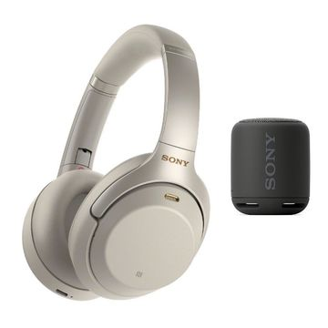 Sony WH-1000XM3 Wireless Noise-Canceling Over-Ear Headphones (Silver) Bundle