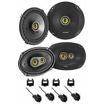 Kicker 46CSC Front + Rear Speaker Replacement Kit For 2001 Chrysler Sebring