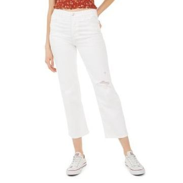 Celebrity Pink Juniors' Distressed Cropped Jeans