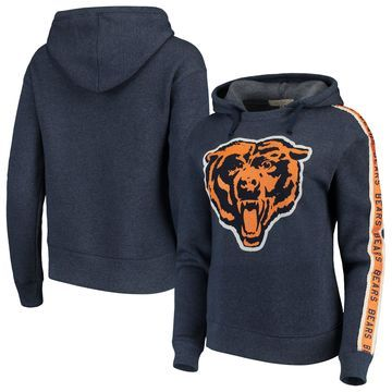 Chicago Bears Junk Food Women's Sunday Liberty Pullover Hoodie - Navy