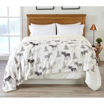 Home Fashion Designs Premium Reversible Luxury Blanket (Toile Grey - Full - Queen)