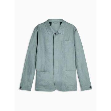 Mens Selected Homme Green Slim 'Summer' Linen Blazer