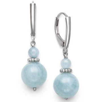 Giani Bernini Milky Aquamarine Drop Earrings in Sterling Silver, Created for Macy;s