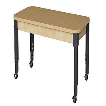 Wood Designs HPL2436A1829C6 - Mobile Rectangle High Pressure Laminate Table with