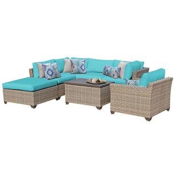 TK Classics Monterey 7-piece Outdoor Wicker Patio Furniture Set