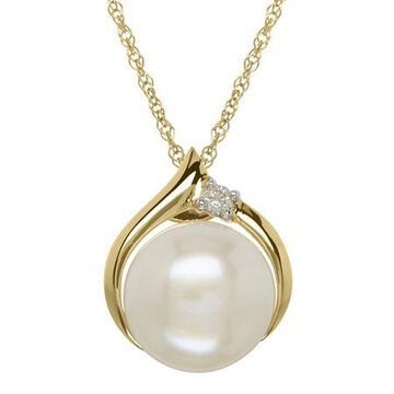 Certified Sofia Cultured Freshwater Pearl & Diamond-Accent 10K Gold Pendant Necklace Family