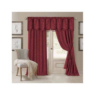 Elrene Mia Jacquard Blackout Back-Tab Curtain Panel