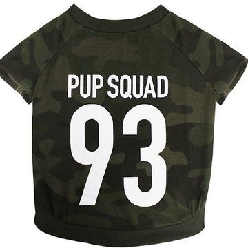 Pets First Pup Squad Dog Tee, Camo